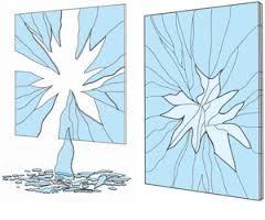 cassure vitre