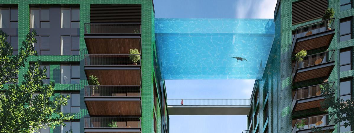 la piscine en vitre
